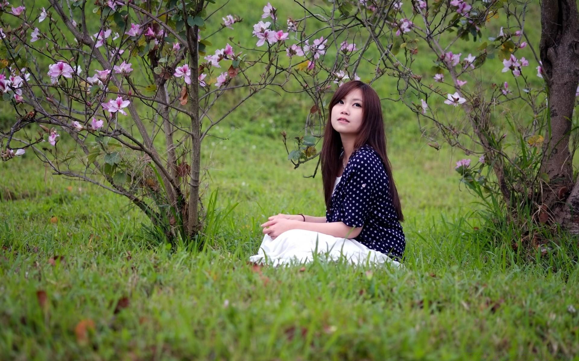 Фото природа девушка 18