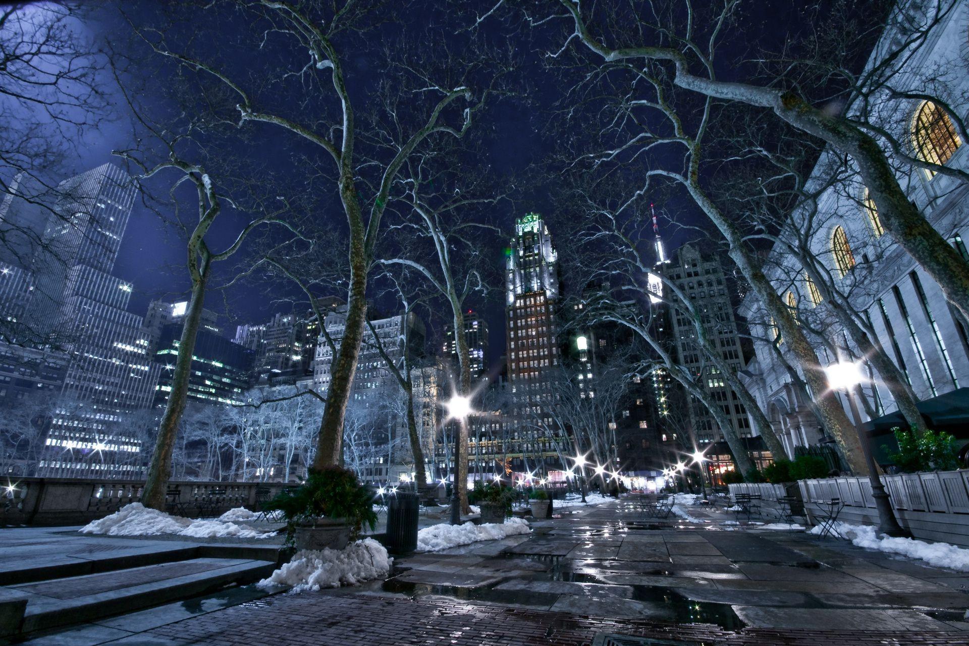 свет ночного города тает на земле - 14