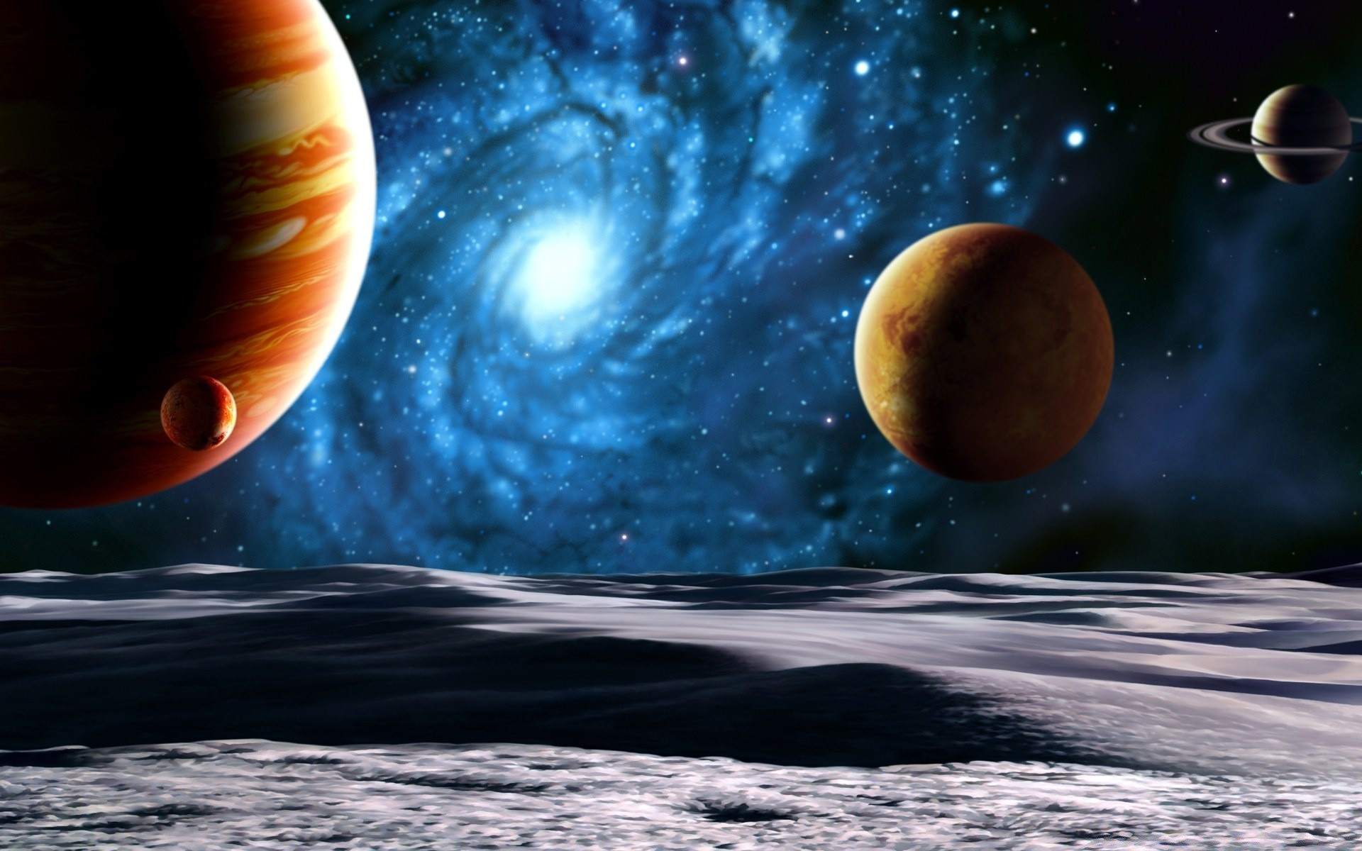 planets and space - HD1680×1050