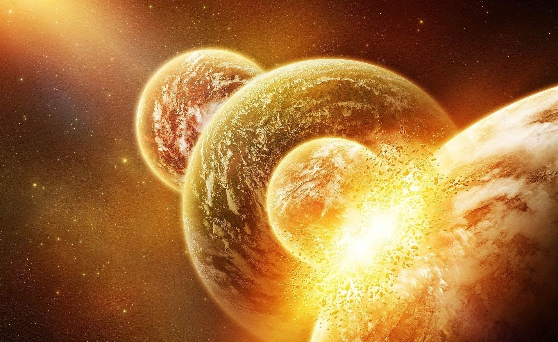 Взрыв космос спутник планеты звезды