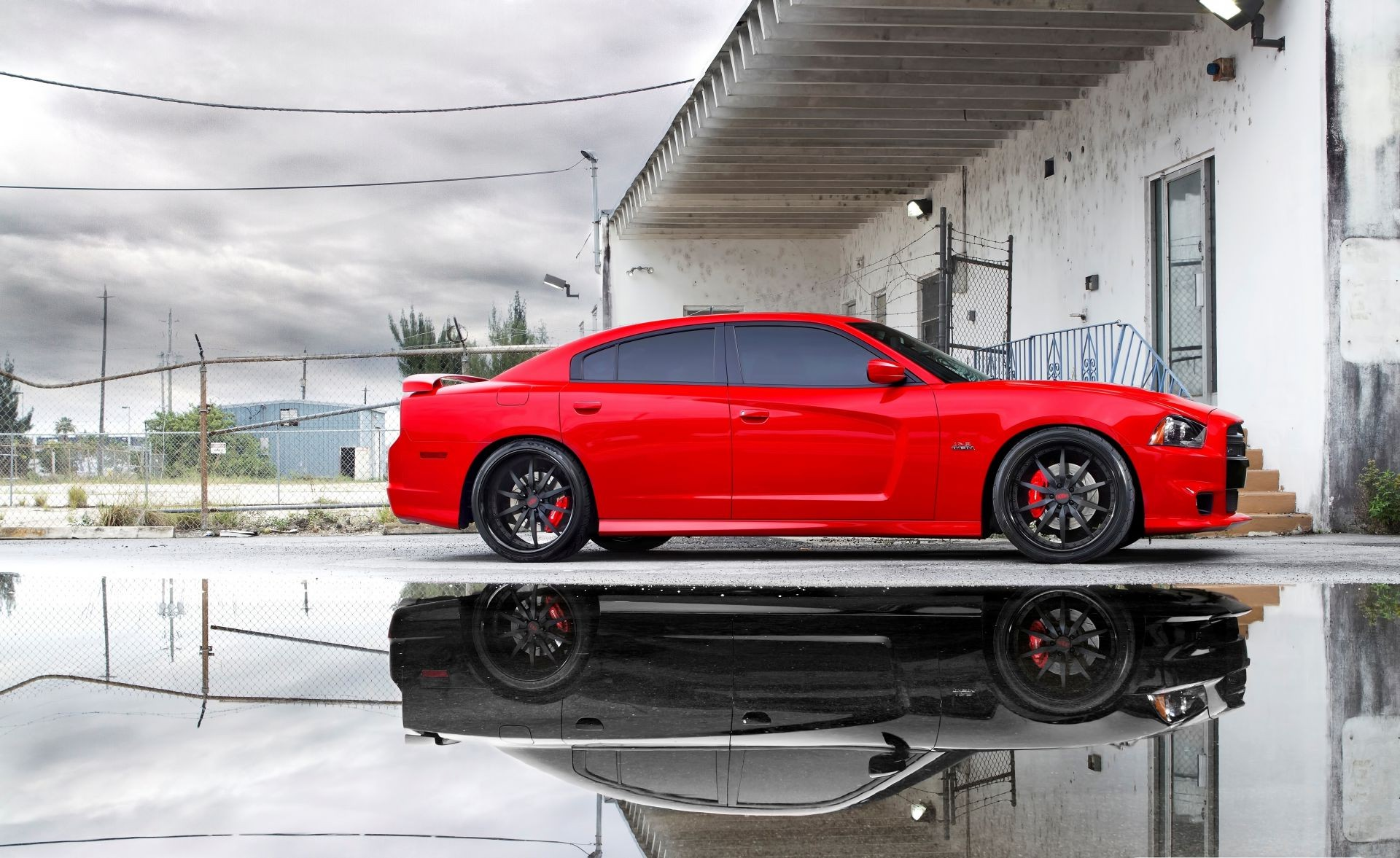 miami puddle srt8 red reflection charger додж dodge