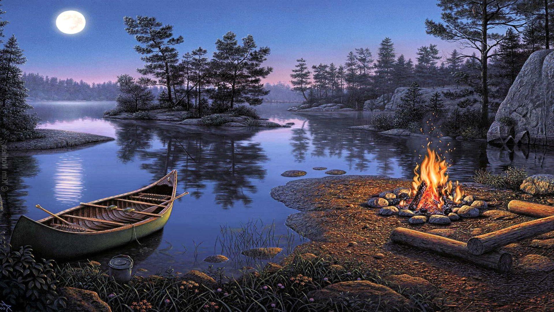 берег лодка озеро без смс