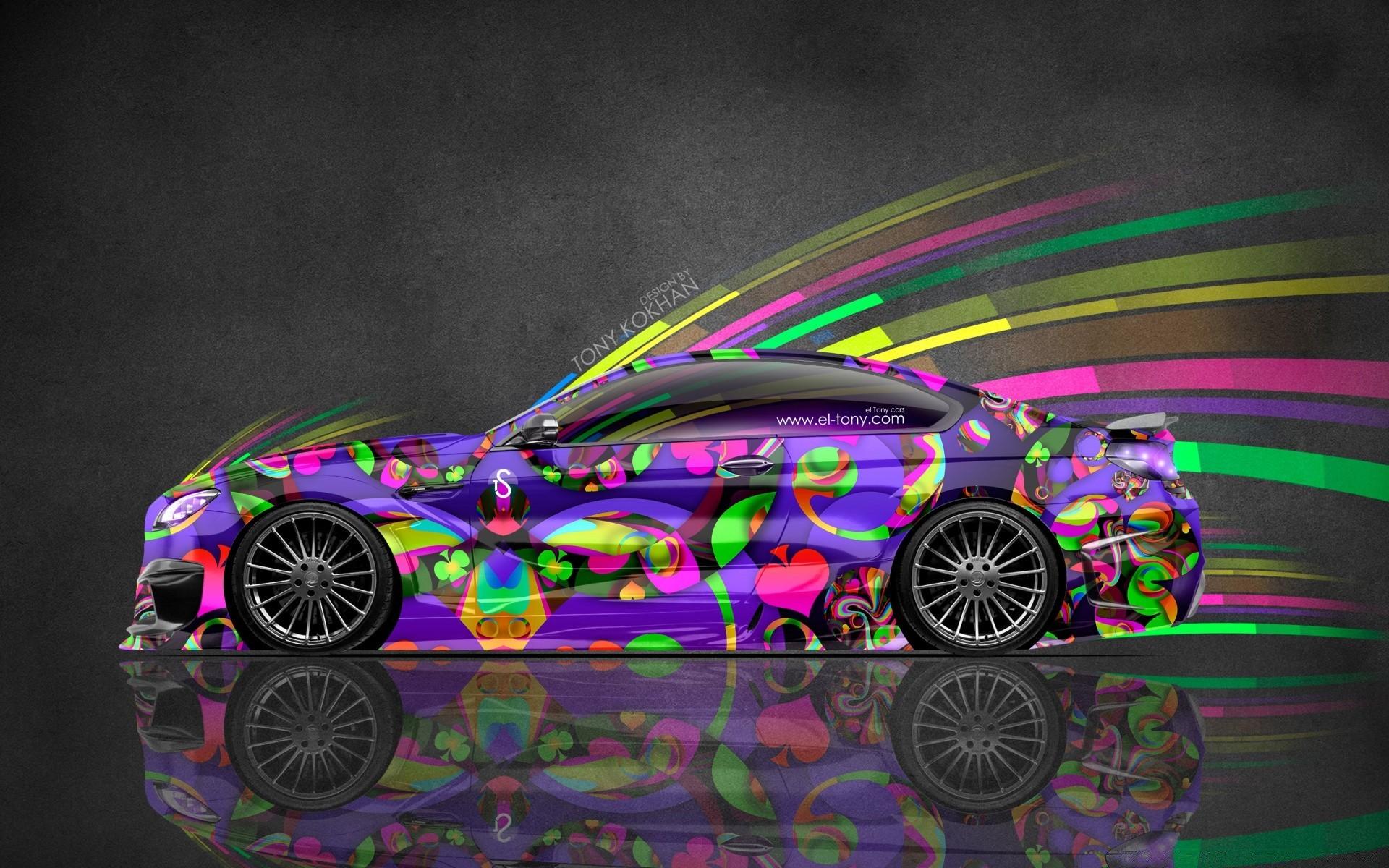 Картинки цветных автомобилей