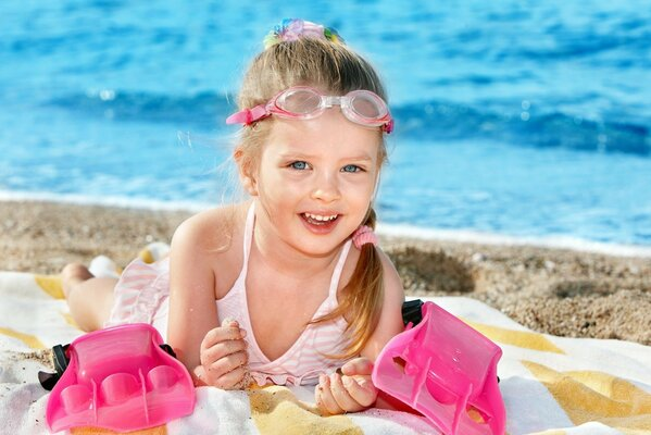 happiness child joy cheerful beach cute children Happ