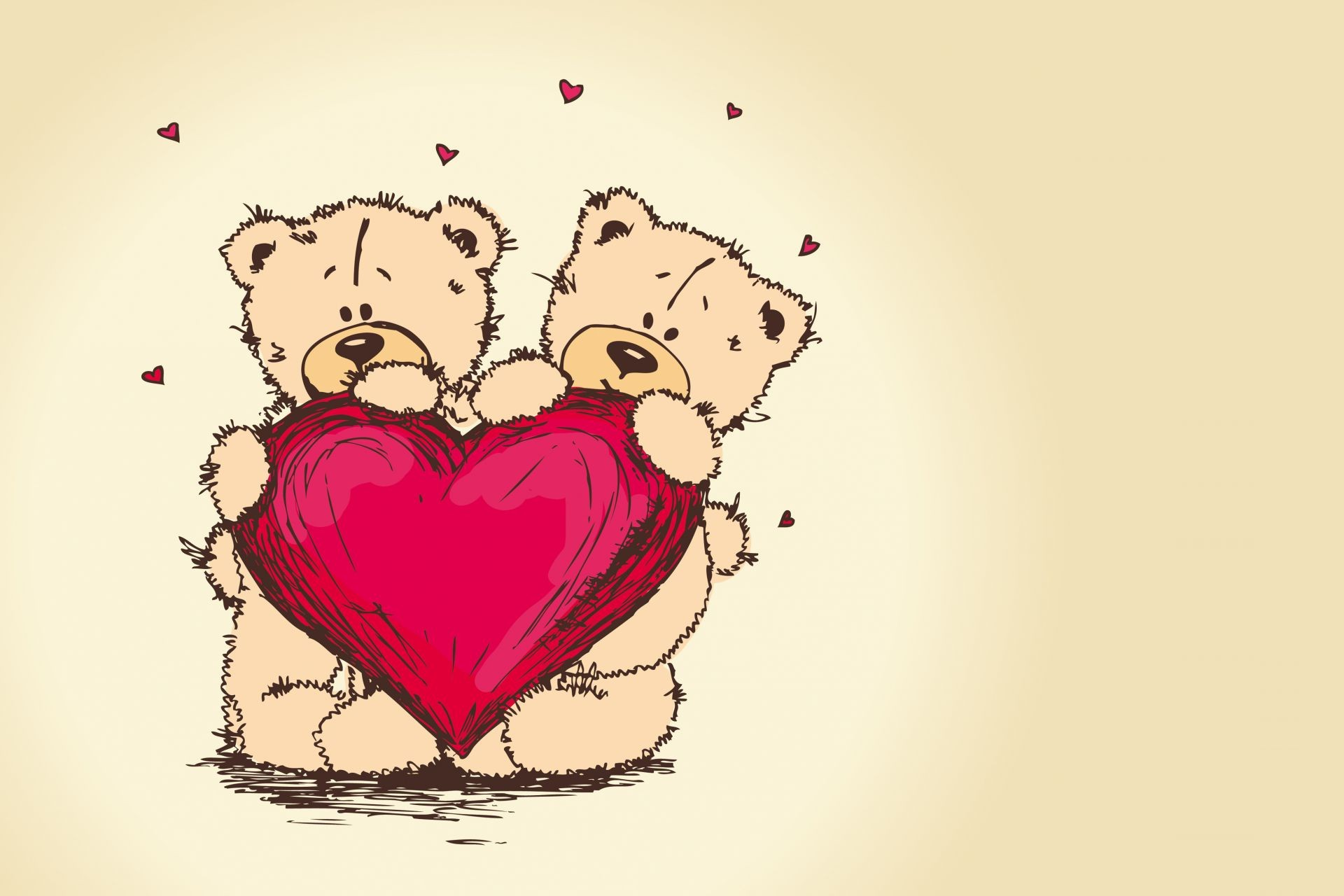пара сердце teddy bear тедди Valentines day медведь