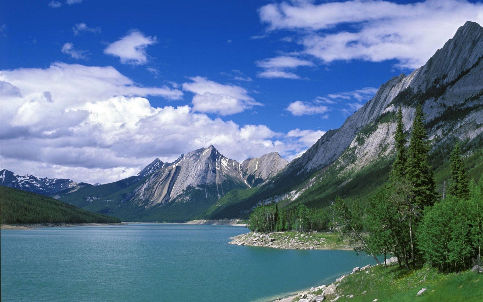 Обои горное озеро картинки на рабочий стол