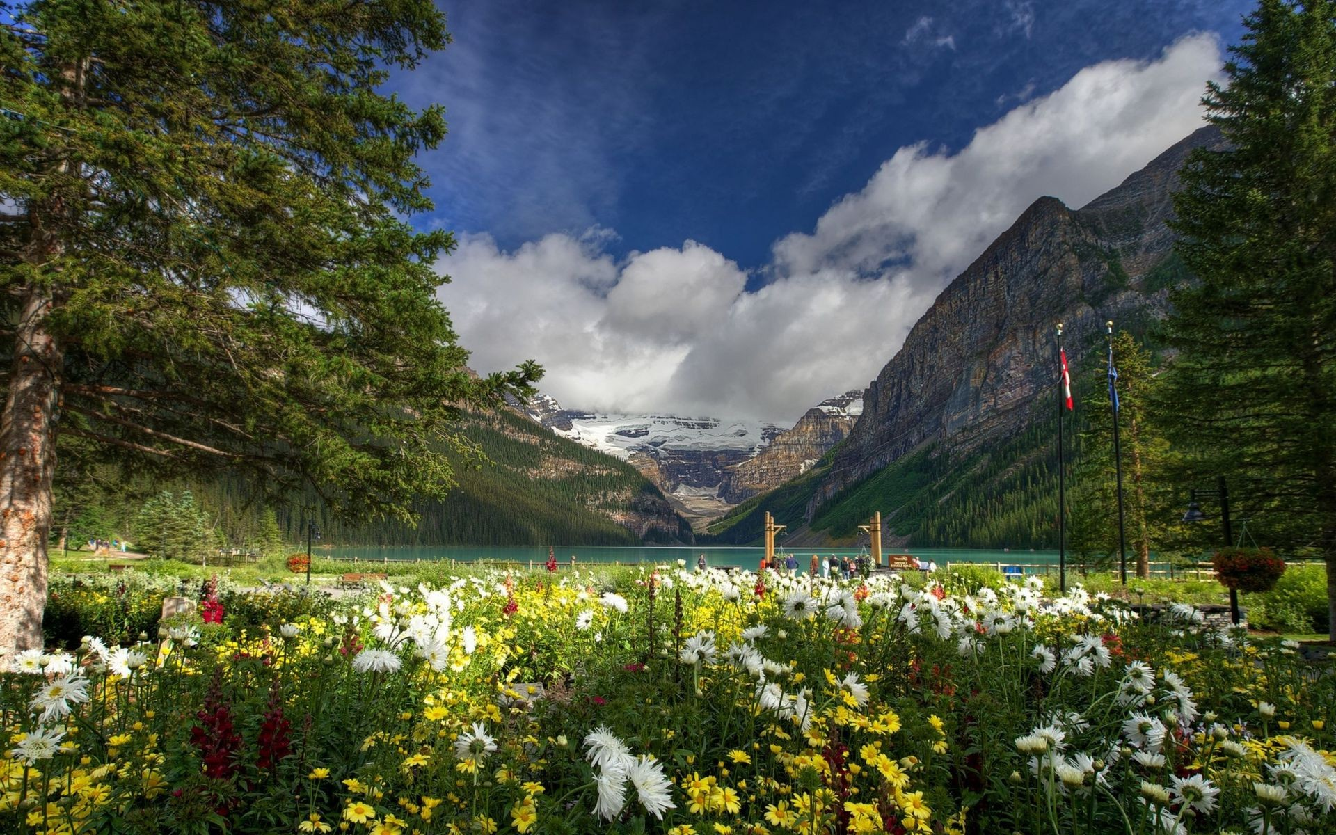 Lake Louise Banff National Park Canada Канада горы озер