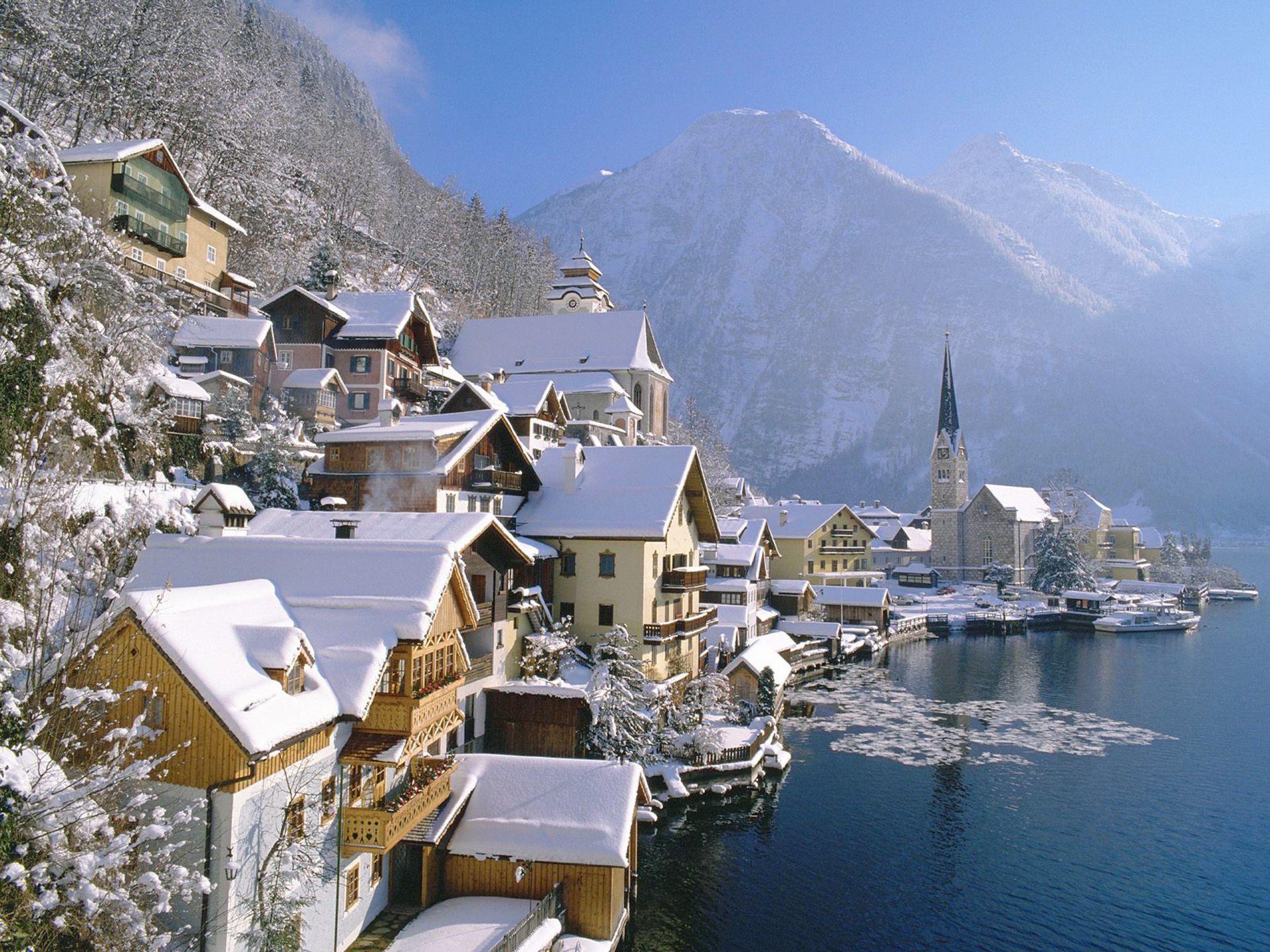 Обои австрия, курорт, ночь, austria. Города foto 9
