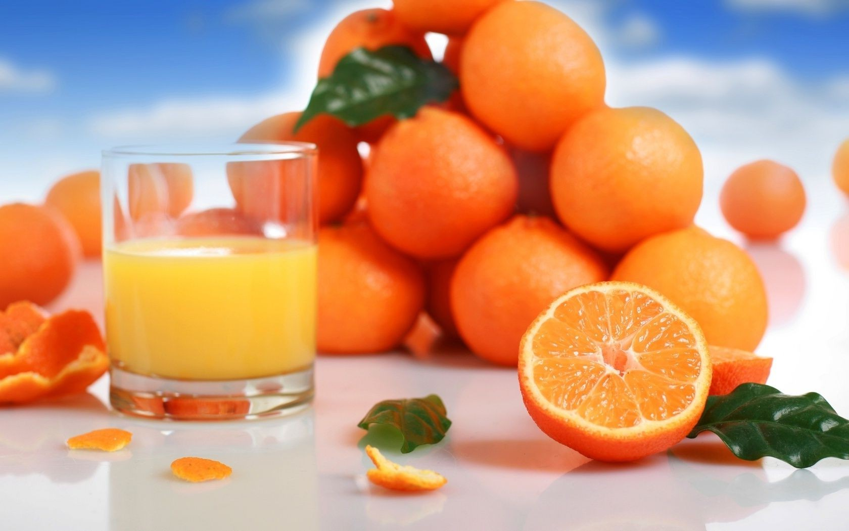 Обои апельсин, цитрусы, виноград, напиток, сок. Еда foto 11