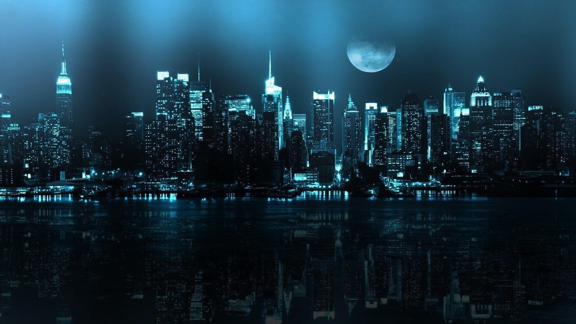 Нью-Йорк ночь освещение на телефон