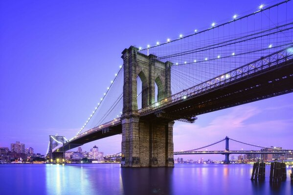 сша blue hour new york city twilight nyc usa Brooklyn