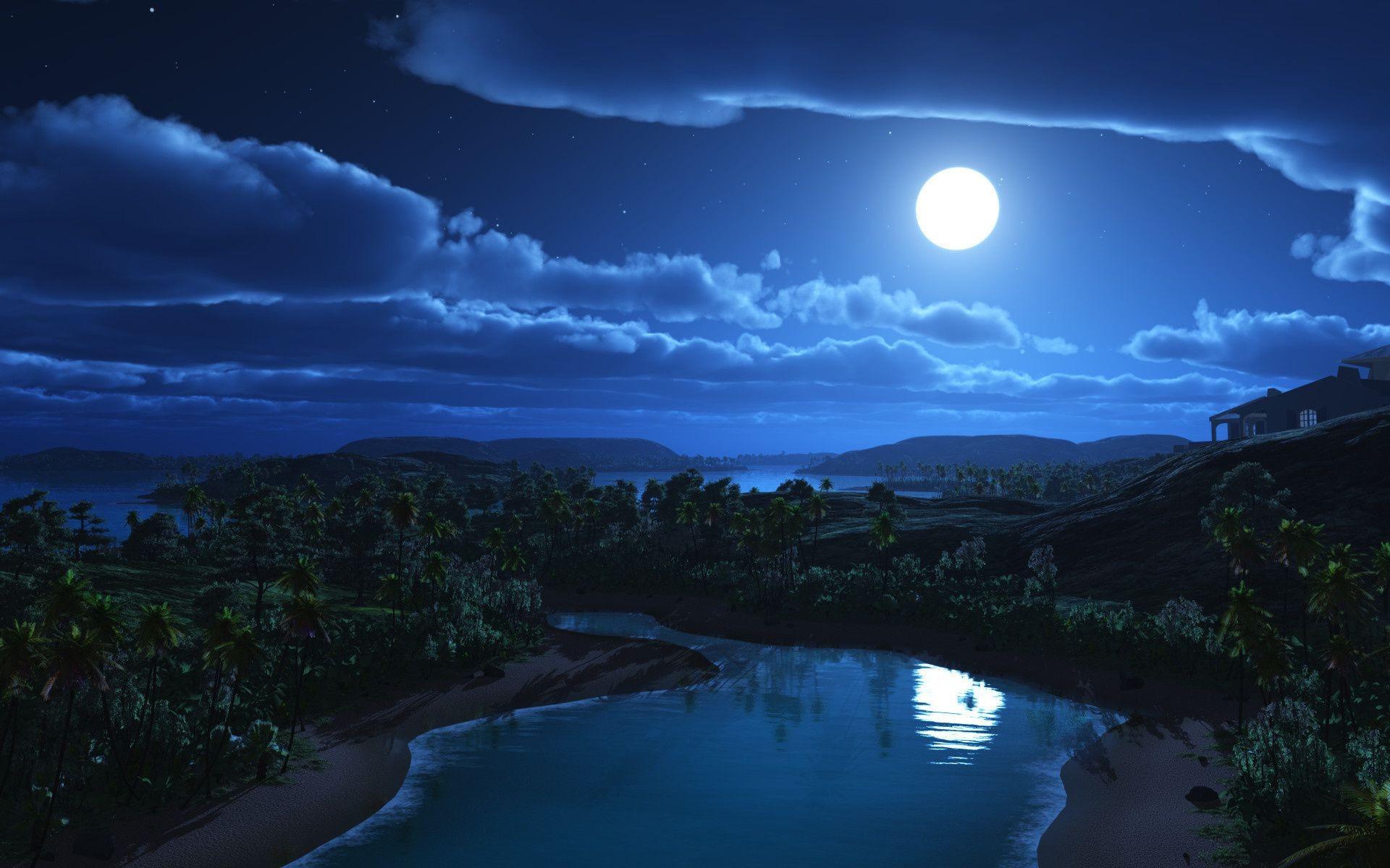 картинки пейзаж ночной