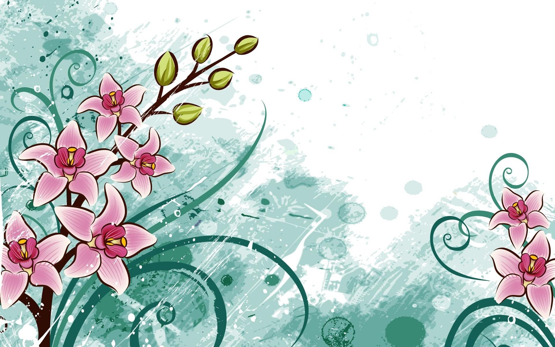 Цветы рисунки для открытки