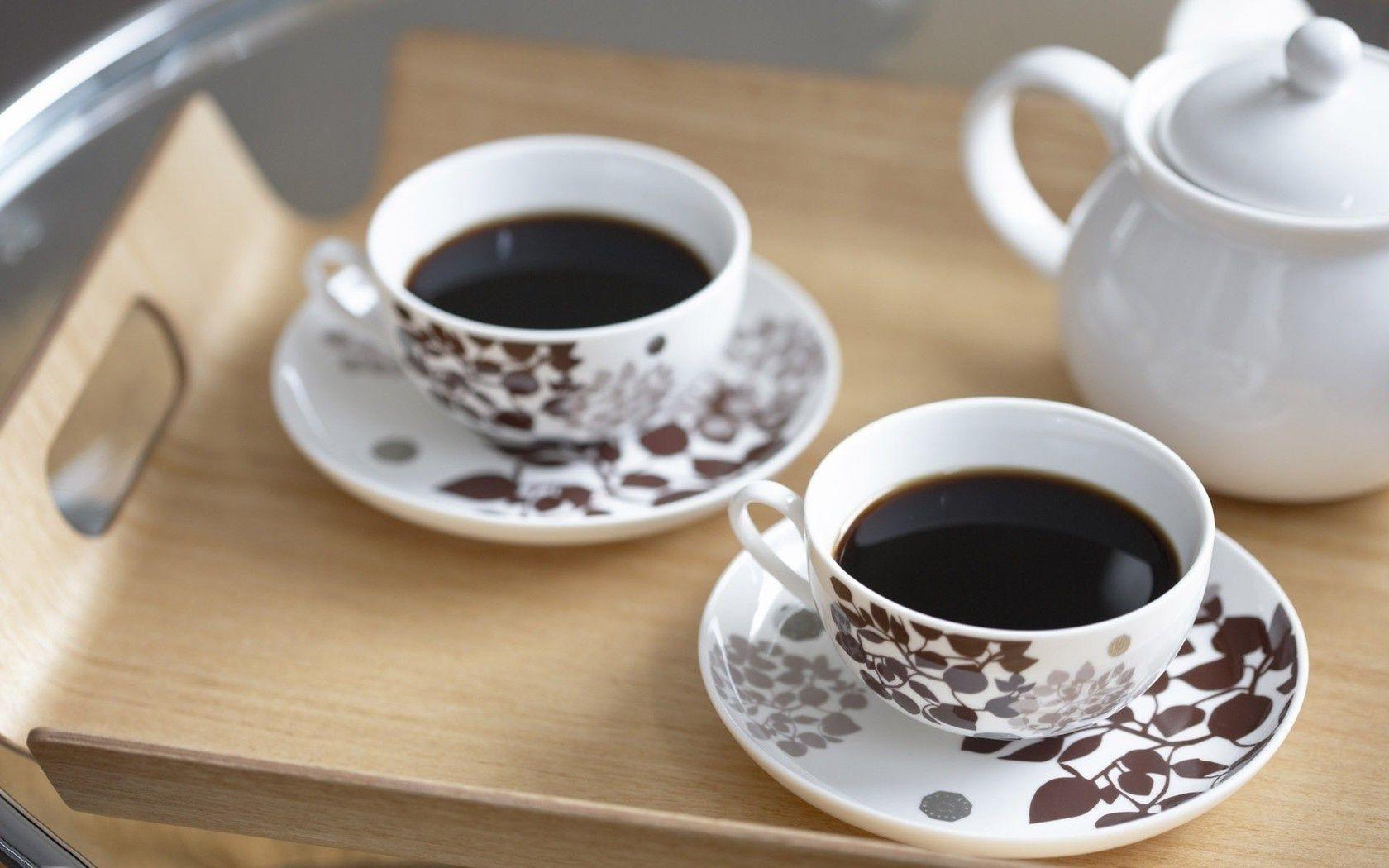 Открытка две чашки чая