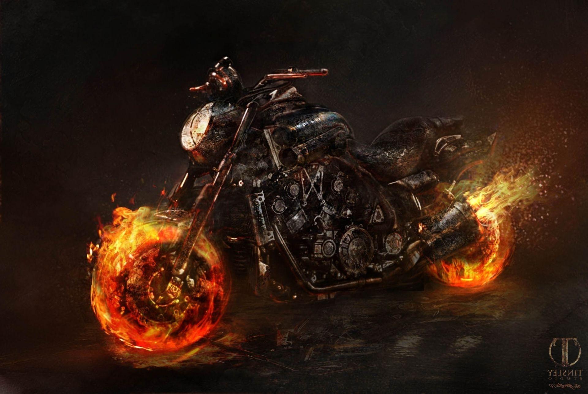 Призрачный гонщик 2 байк spirit of vengeance ghost rider, Обои на.