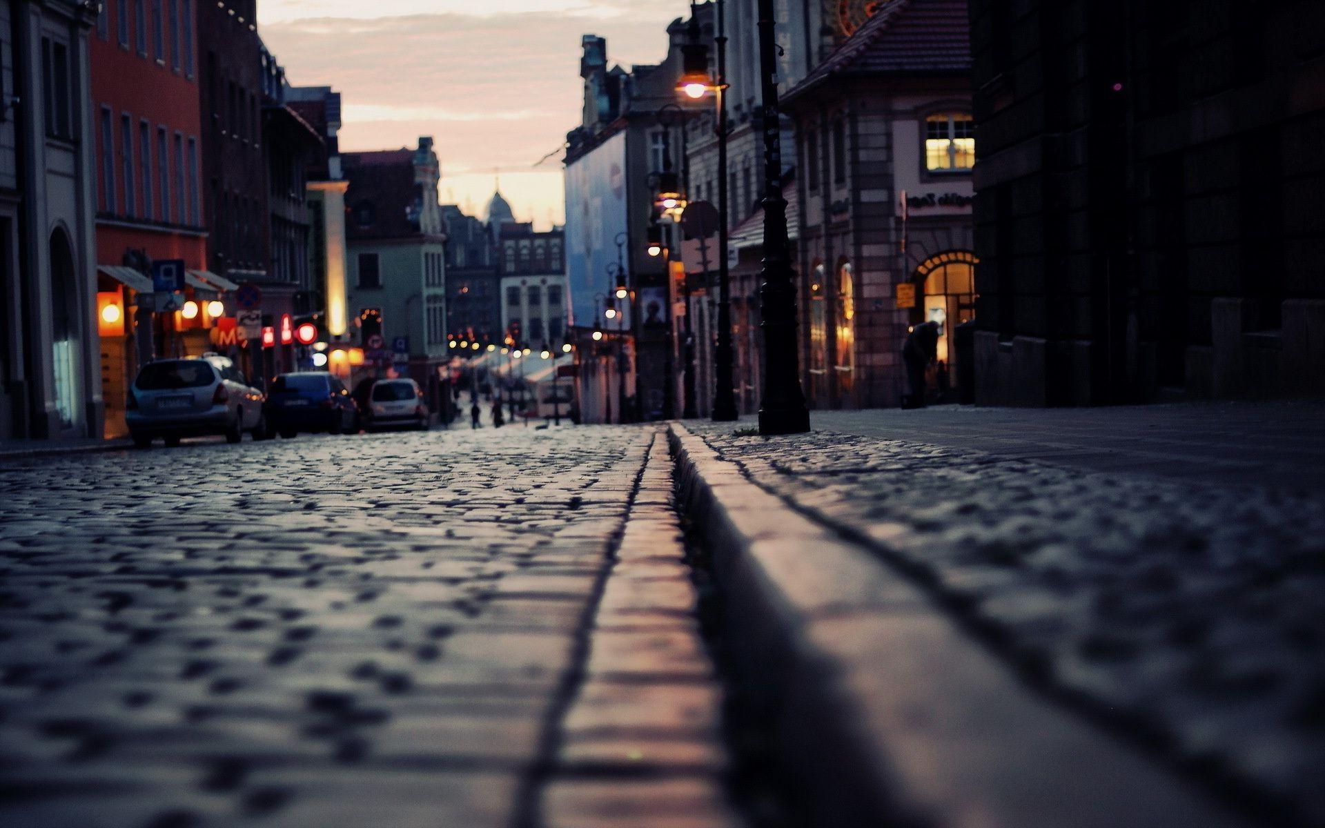 Обои тротуар, здания, свет. Города foto 10