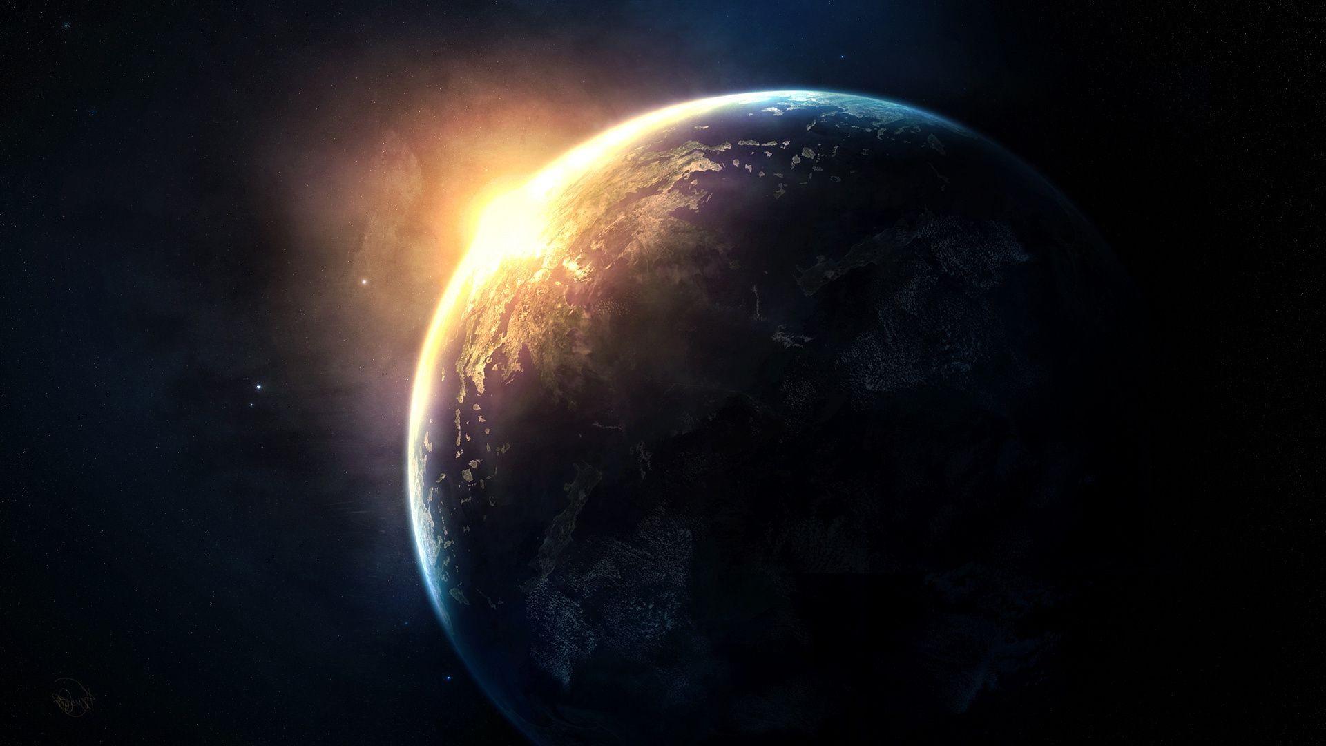 Обои sunrise, пространство. Космос foto 19
