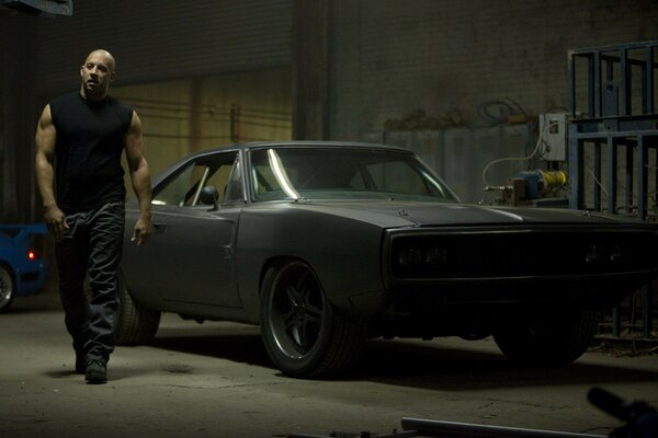 dodge black fast five 1970 car vin diesel charger mus