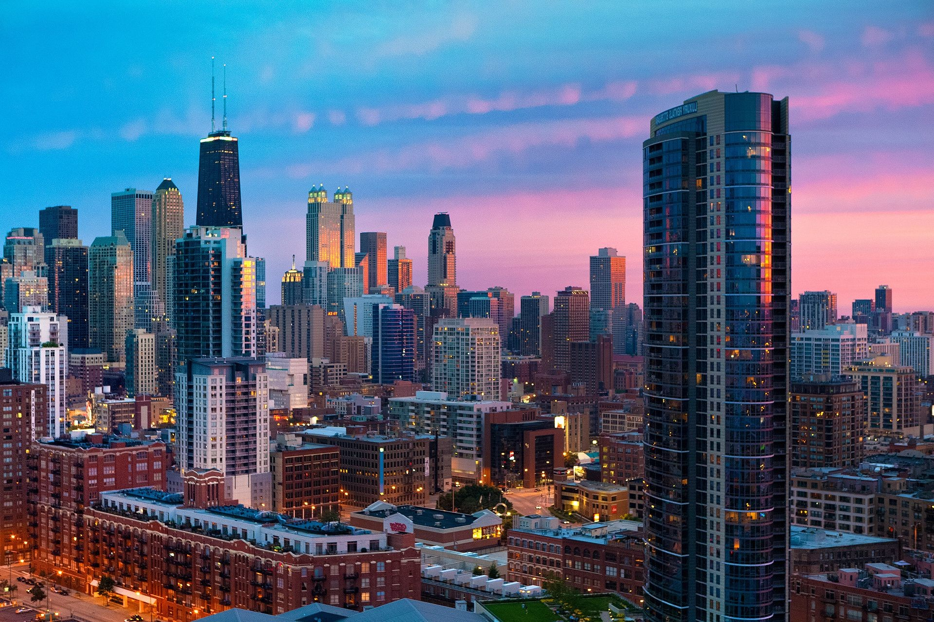 Обои высотки, чикаго, chicago, небоскребы, center. Города foto 19