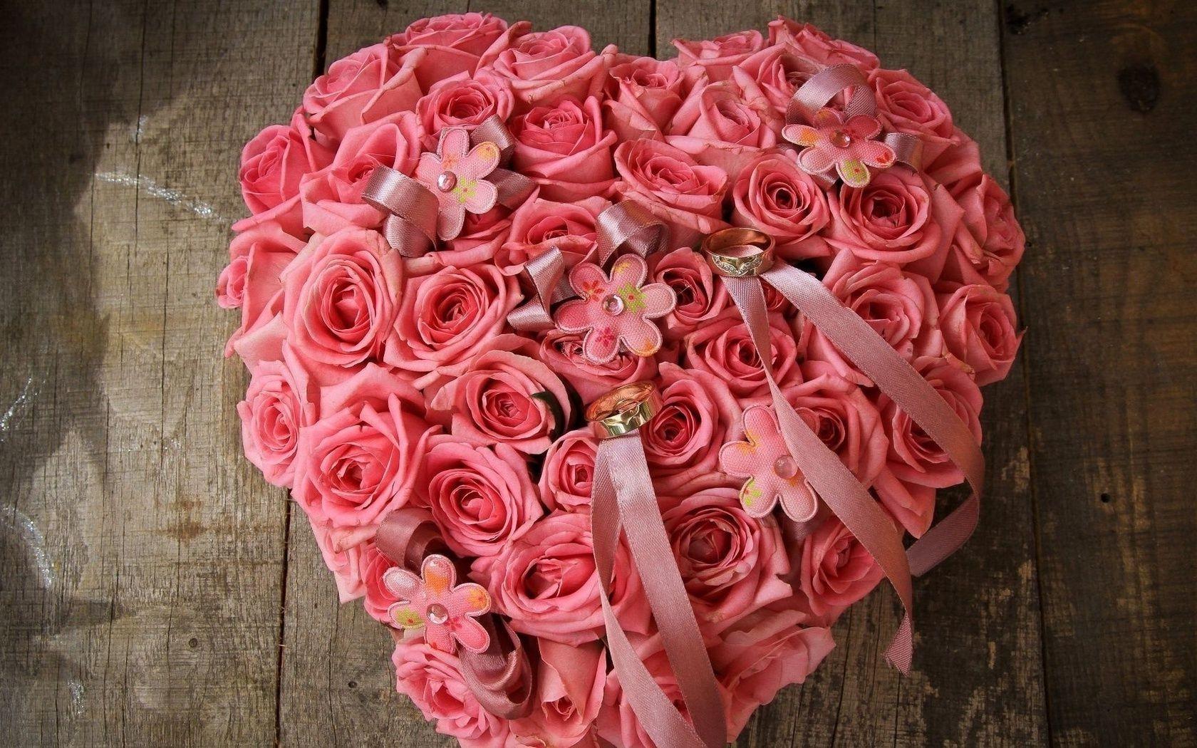 Обои на рабочий стол розы розовые