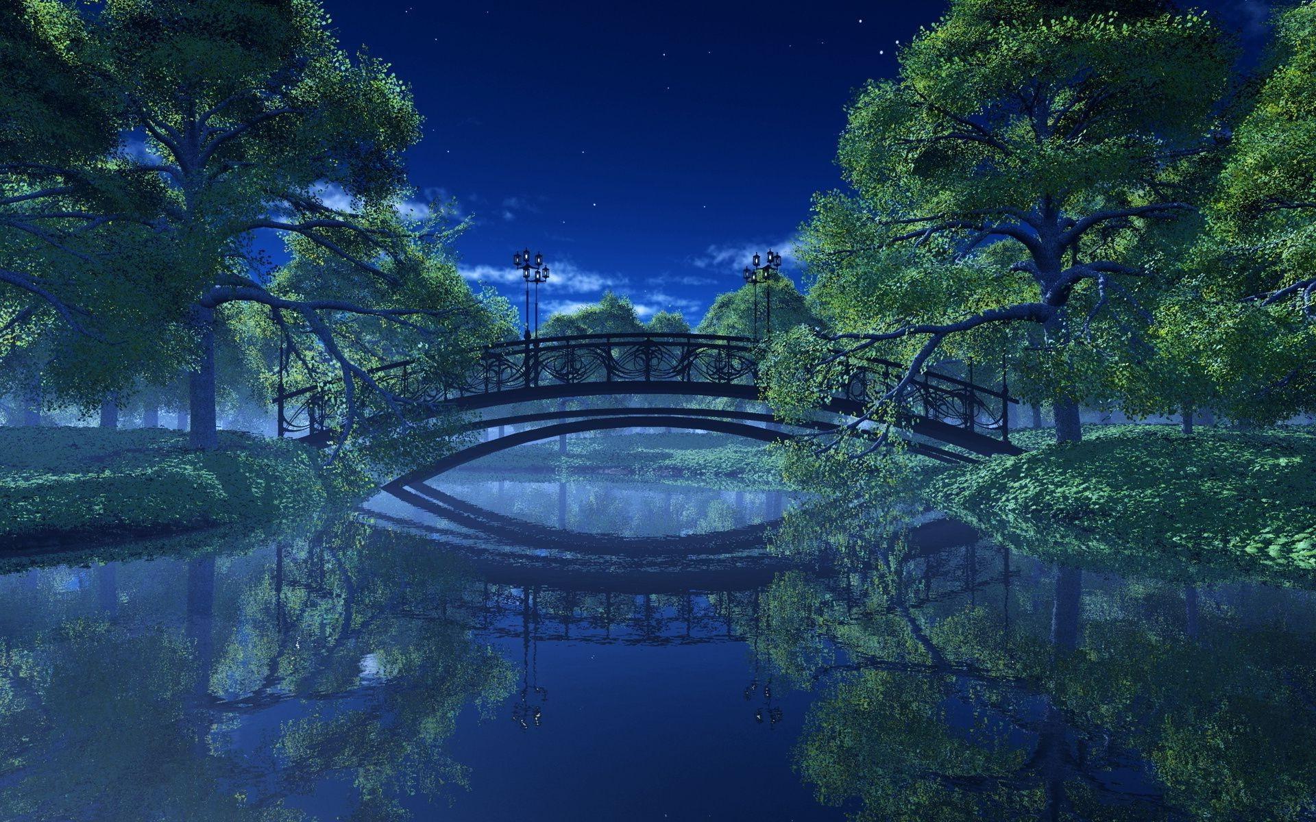 Обои ночь, Пейзаж. Пейзажи foto 16