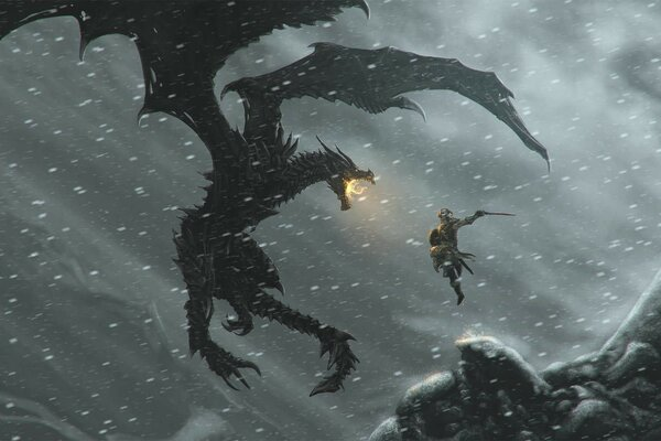 dragon The elder scrolls skyrim довакин дракон скайрим