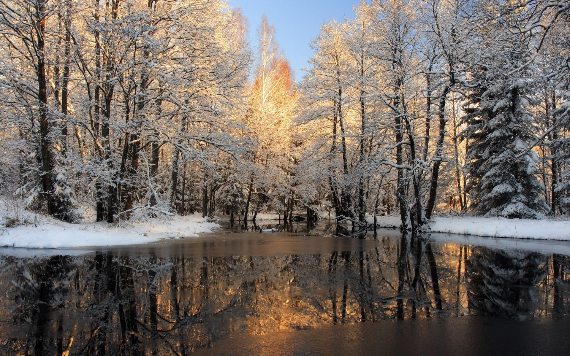Картинки на рабочий стол ранняя зима большие