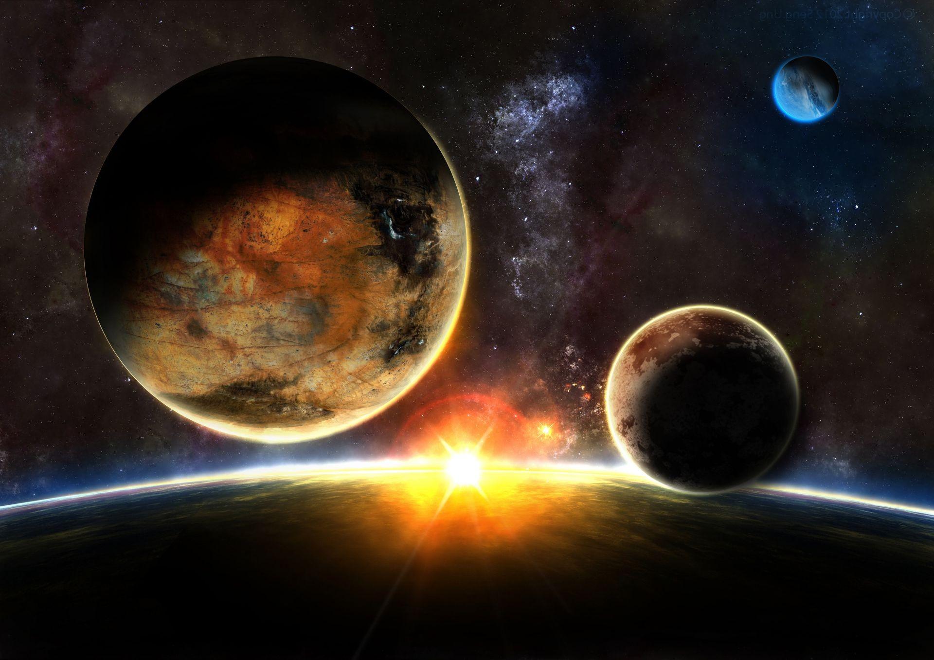 Обои sunrise, пространство. Космос foto 12