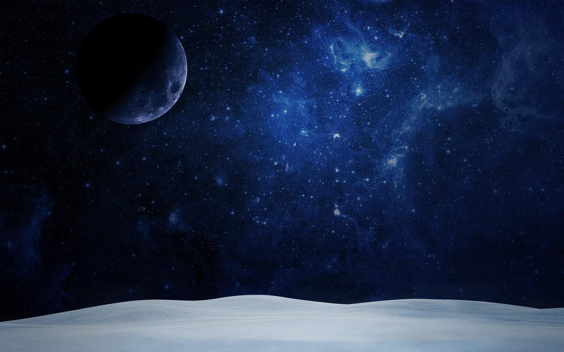 Луна на звездном небе фото высокого разрешения