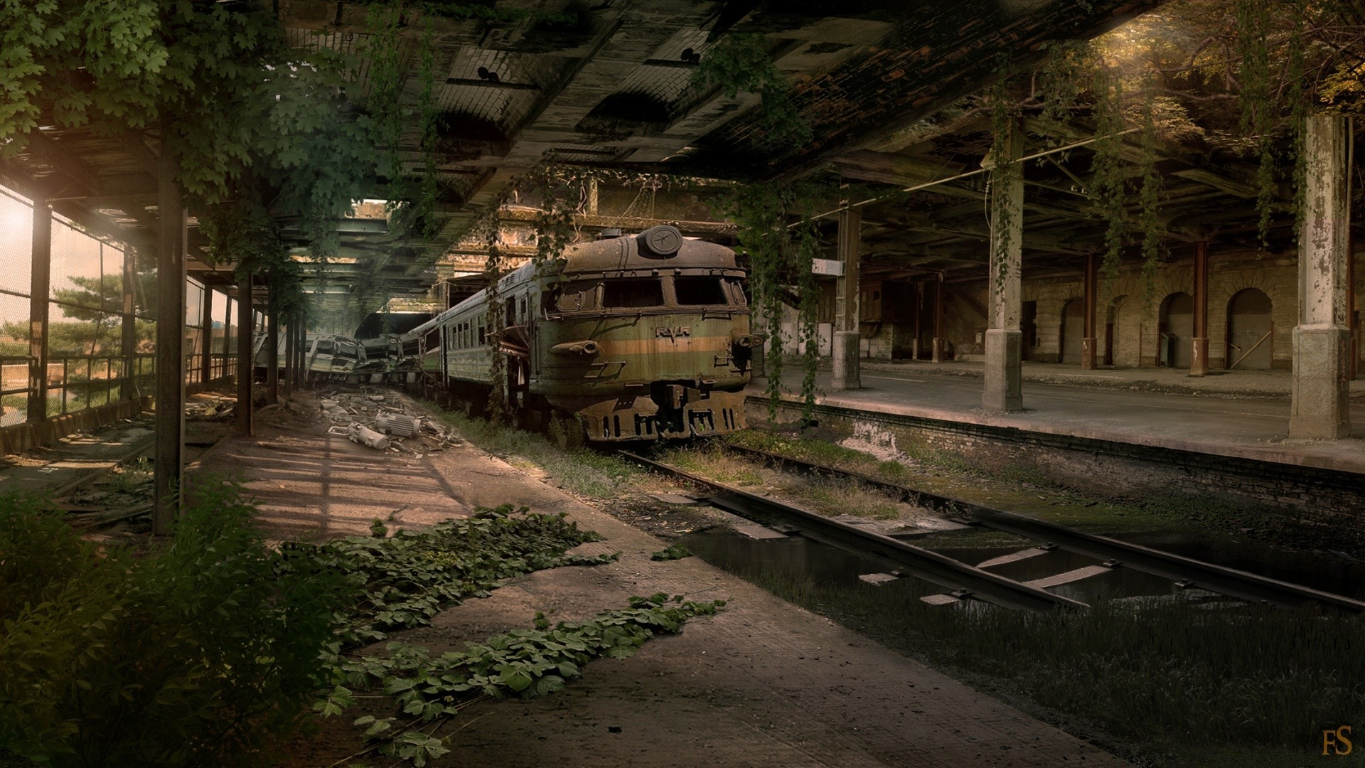 Urban Legend Train Car With Old Cars In It