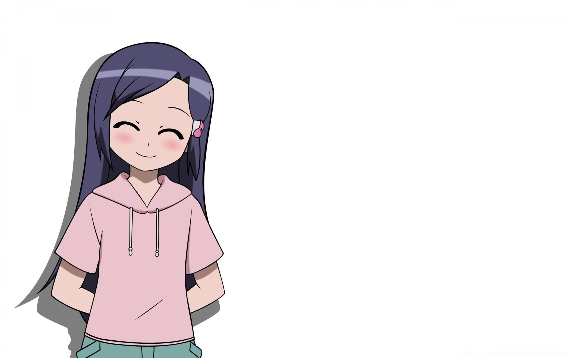 аниме фото на белом фоне