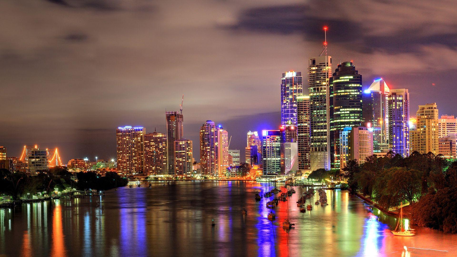 Ночной город картинки на рабочий стол компьютера