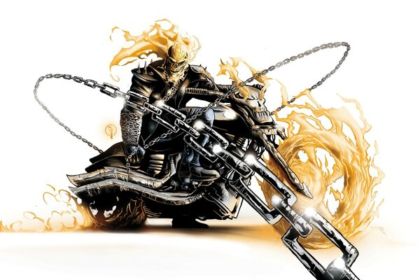 призрак spirit of vengeance гонщик ghost rider Призрачны
