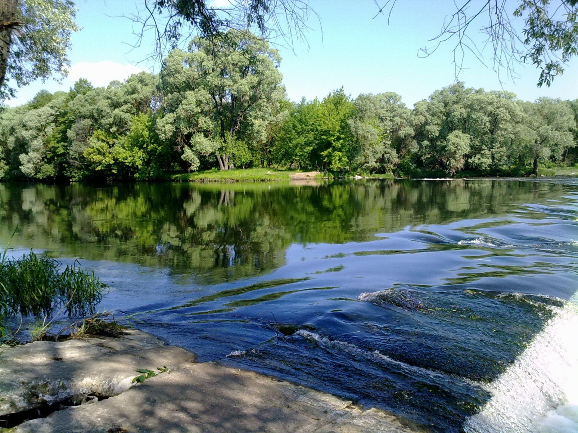 Открытки река, зима