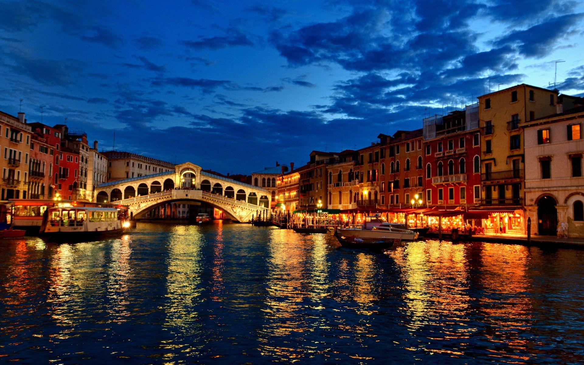 Обои канал, венеция, лодки, дома. Города foto 17