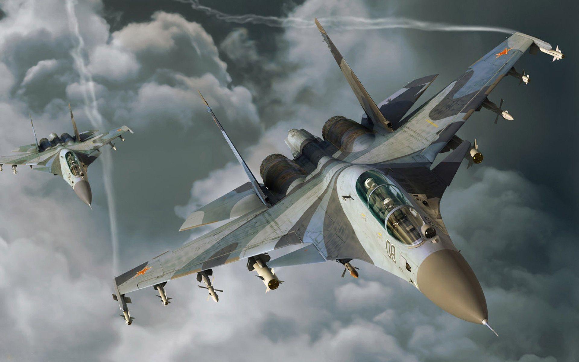 Обои истребители, Облака. Авиация foto 13