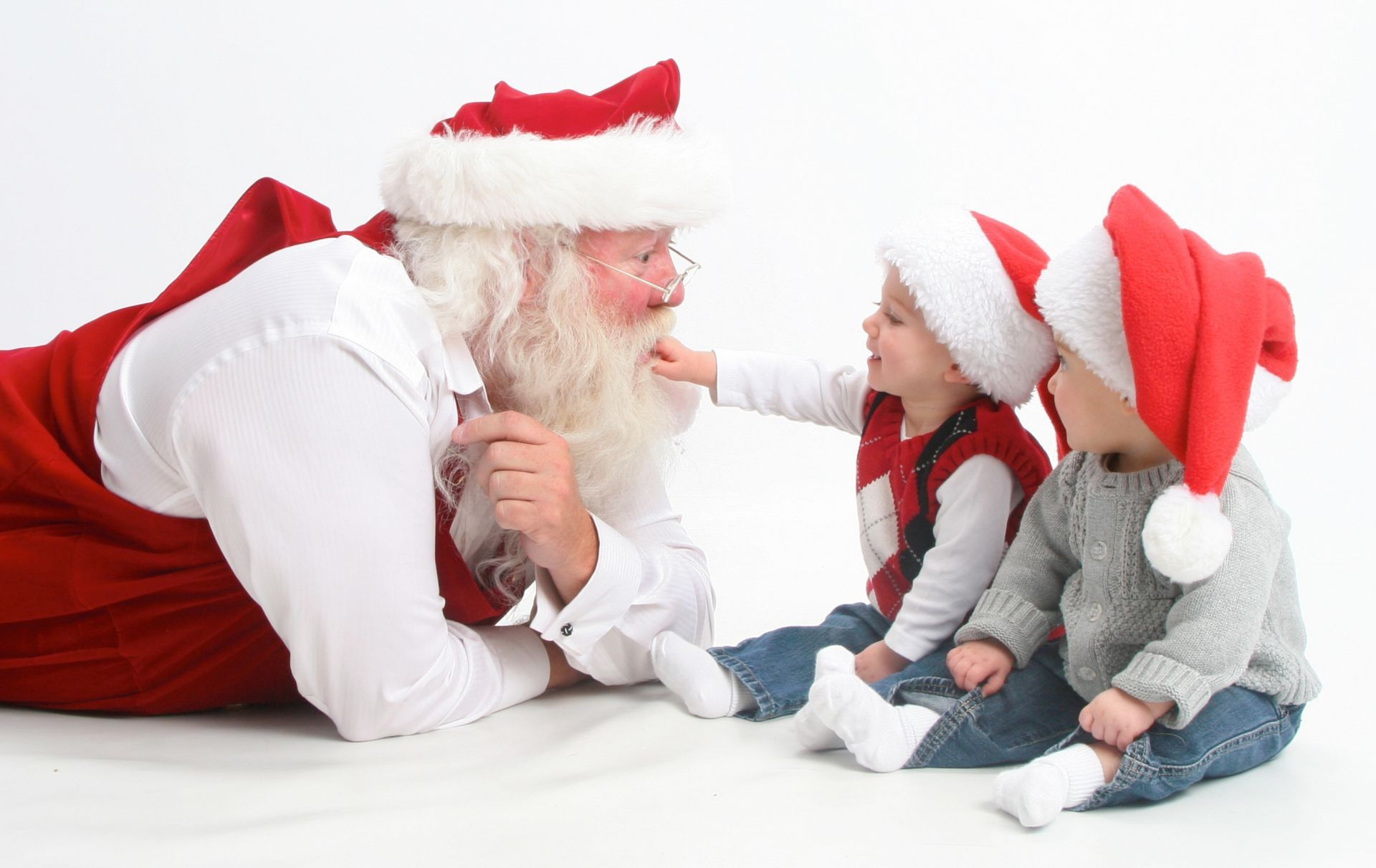 interview santa children happy holidays merry christma