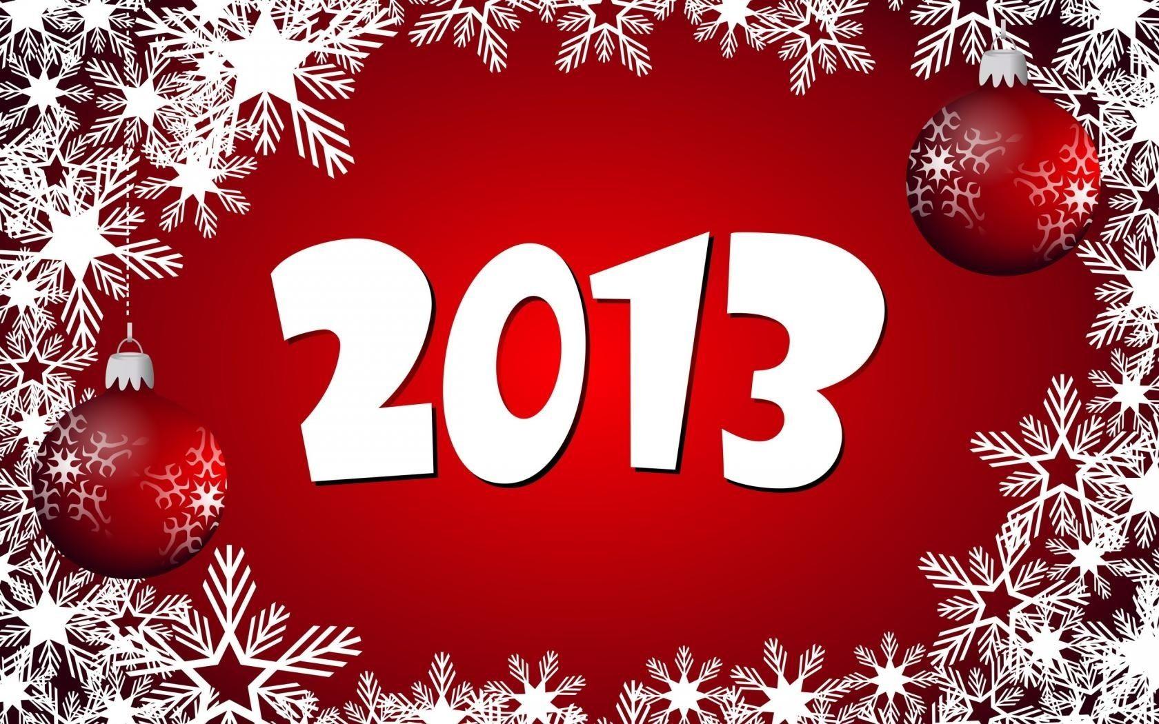 Юбилеем, открытка новый 2013