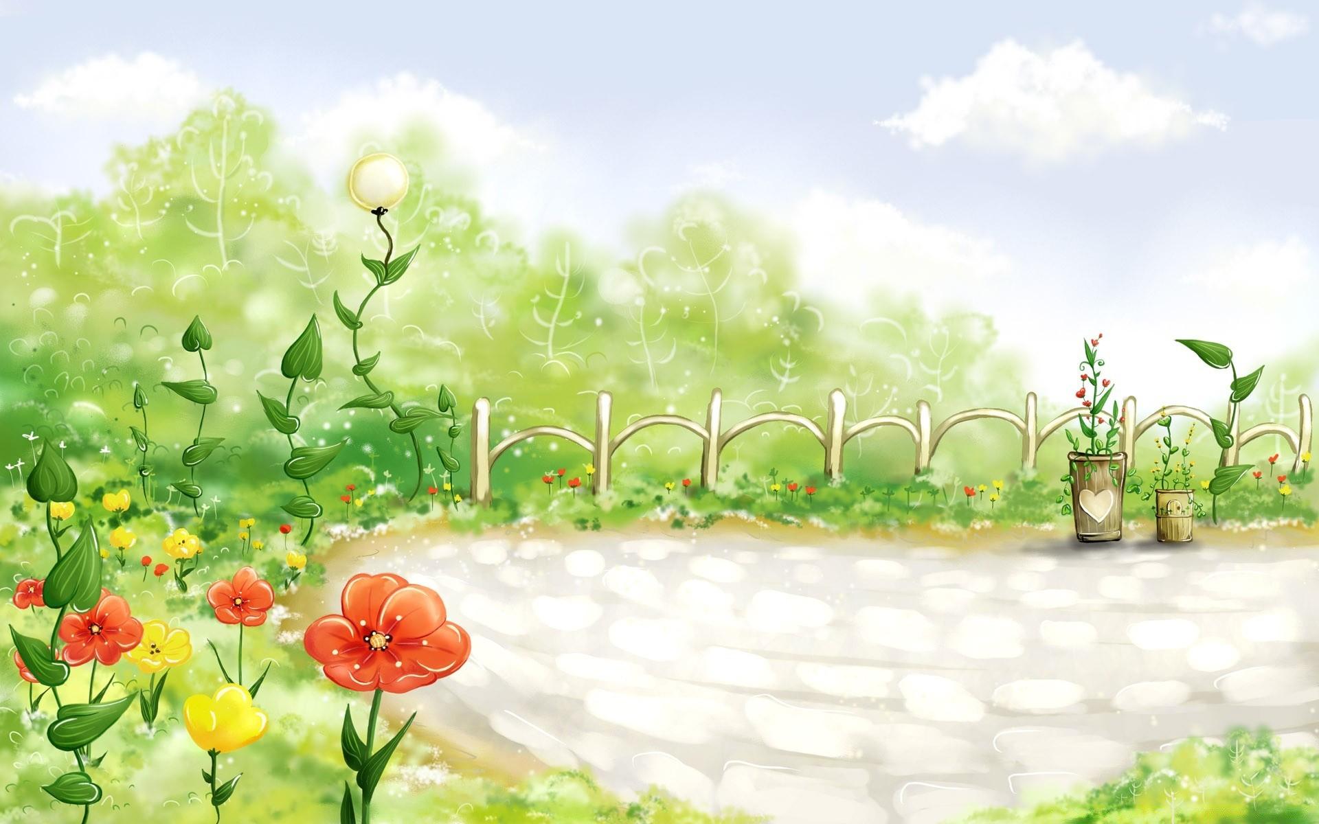 Картинка с полянкой