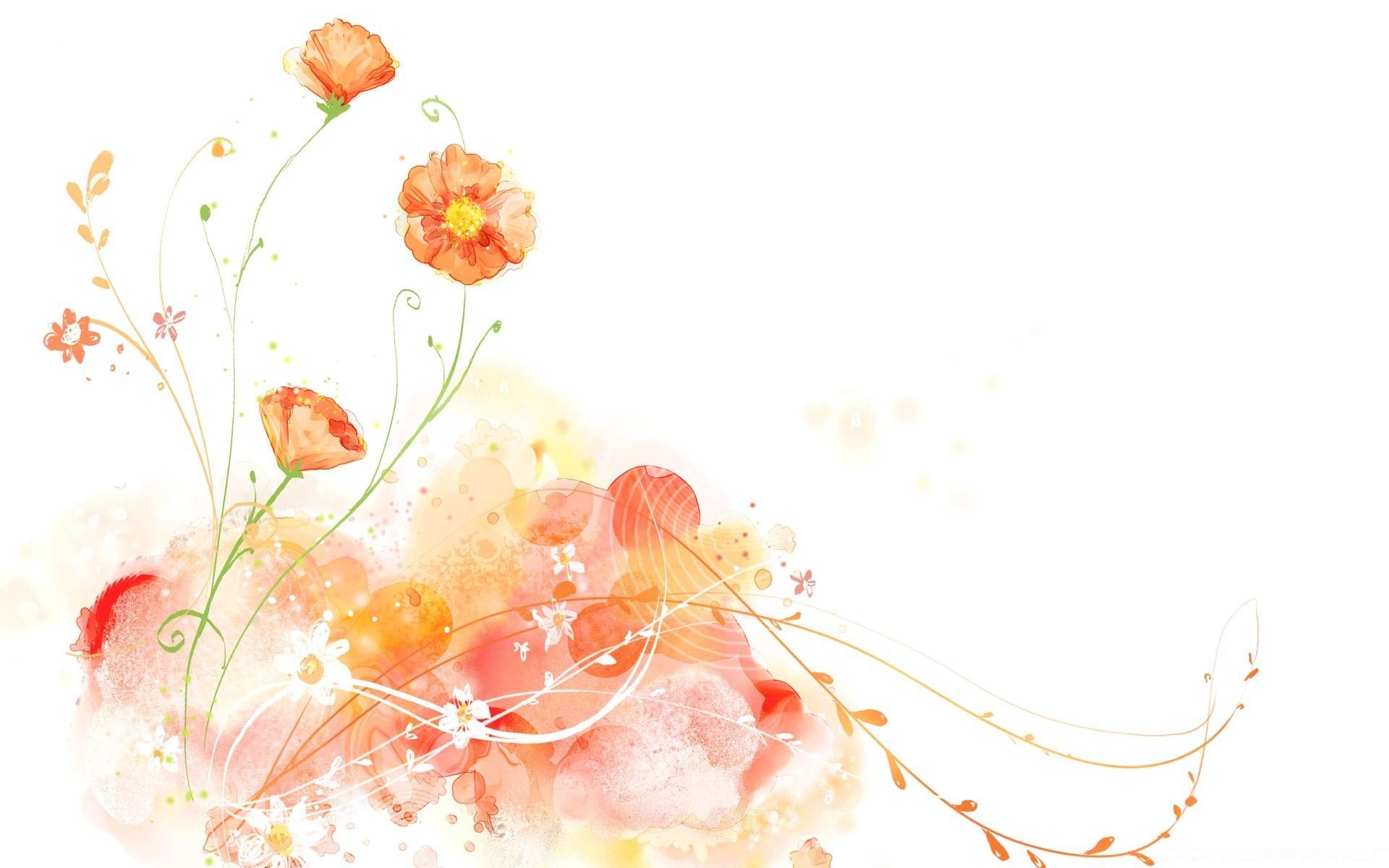 Красивый фоновый рисунок на открытку, цветами гофрированной бумаги