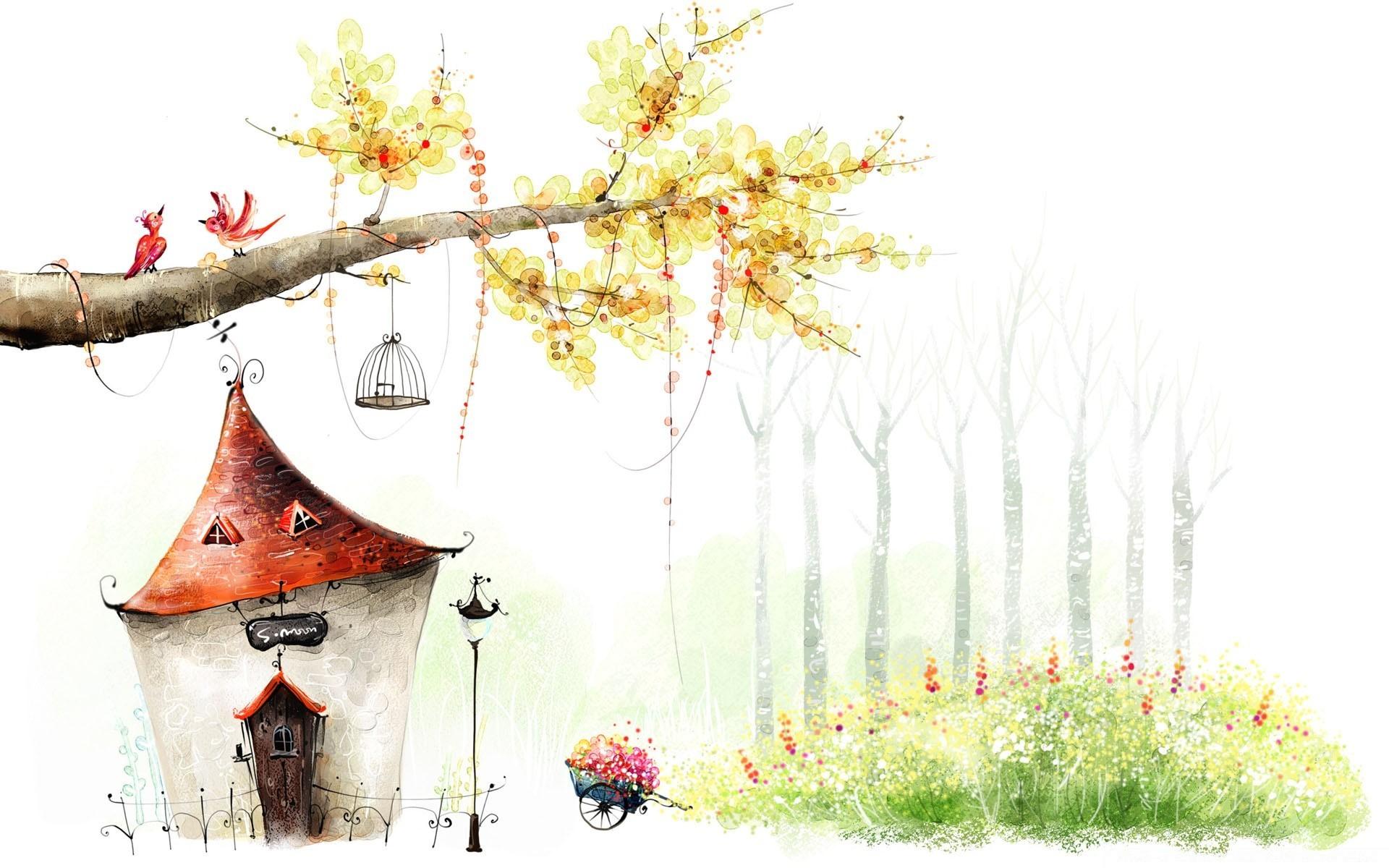 Сказочные домики картинки рисунки, наиля днем рождения