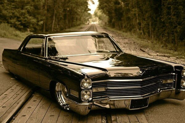 retro car de ville cadillac low rider