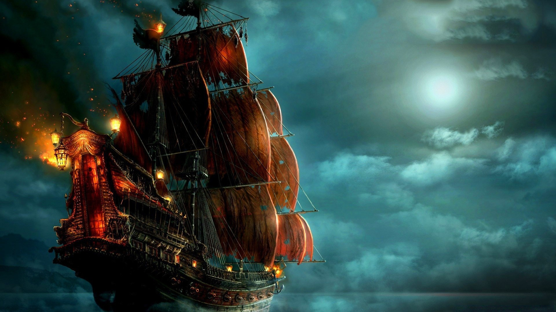 Корабли пиратов картинки на рабочий стол