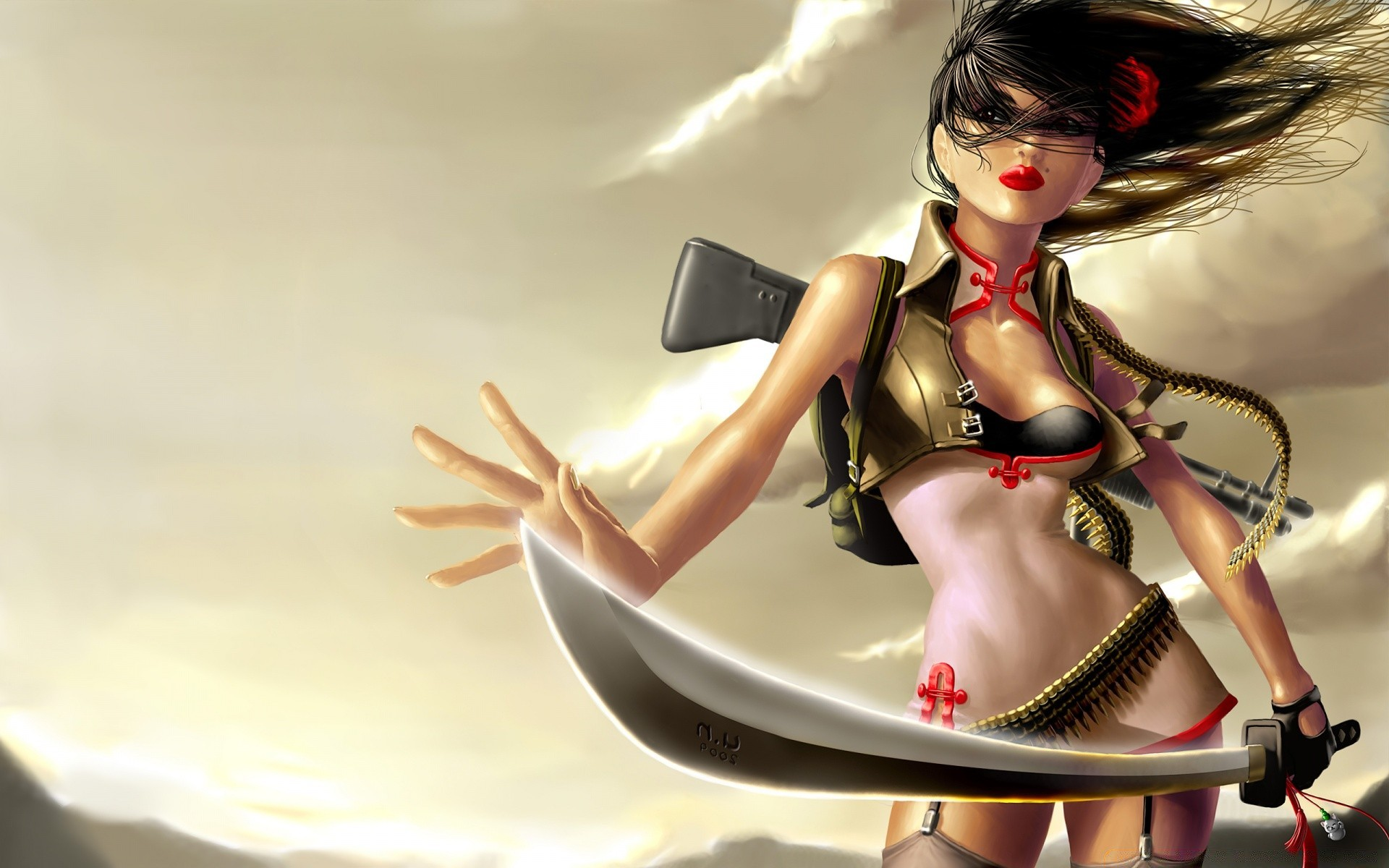 Sexy warrior girl screensaver porncraft image