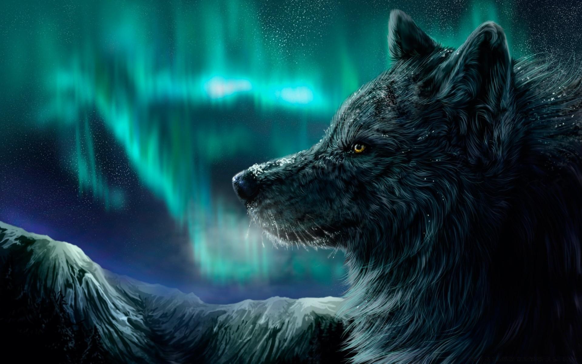 Картинка волков на рабочий