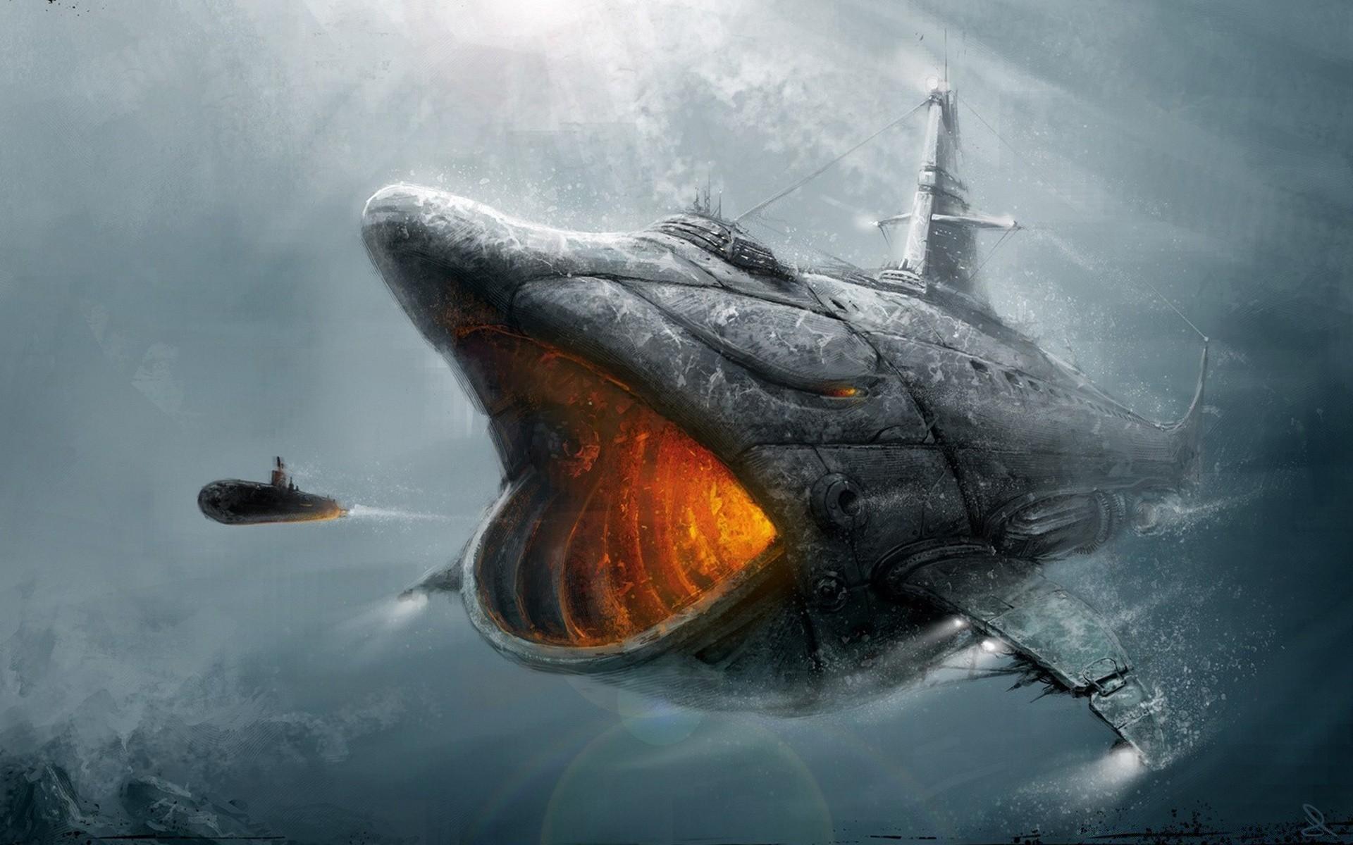 Корабли и акулы картинки