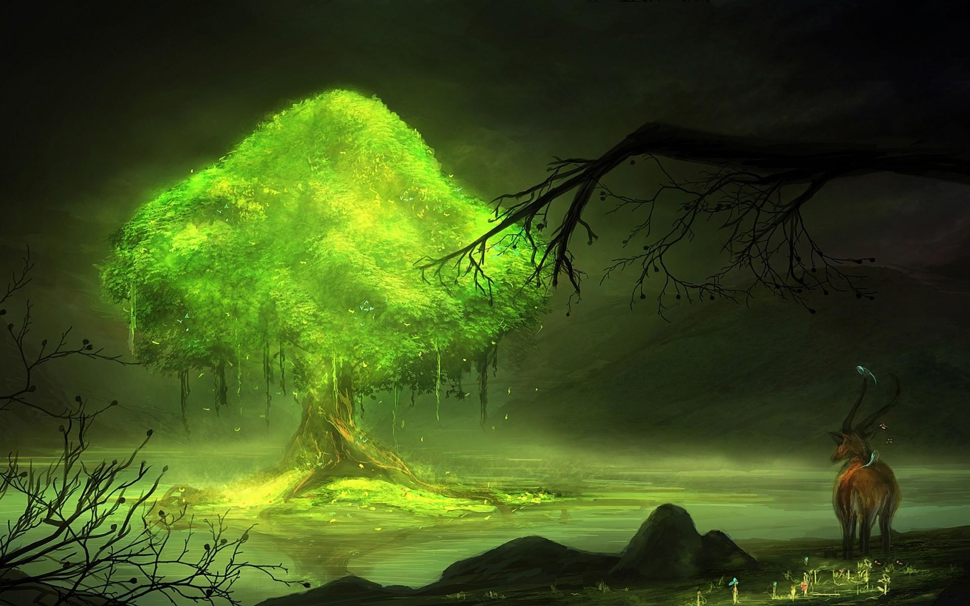 Картинки сказочные деревья на рабочий стол