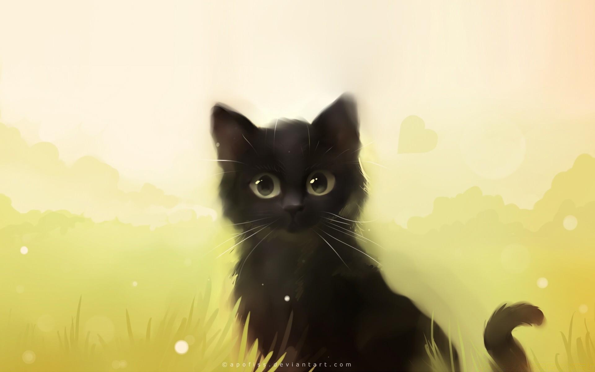 Главного, картинки кошки рисунки красивые