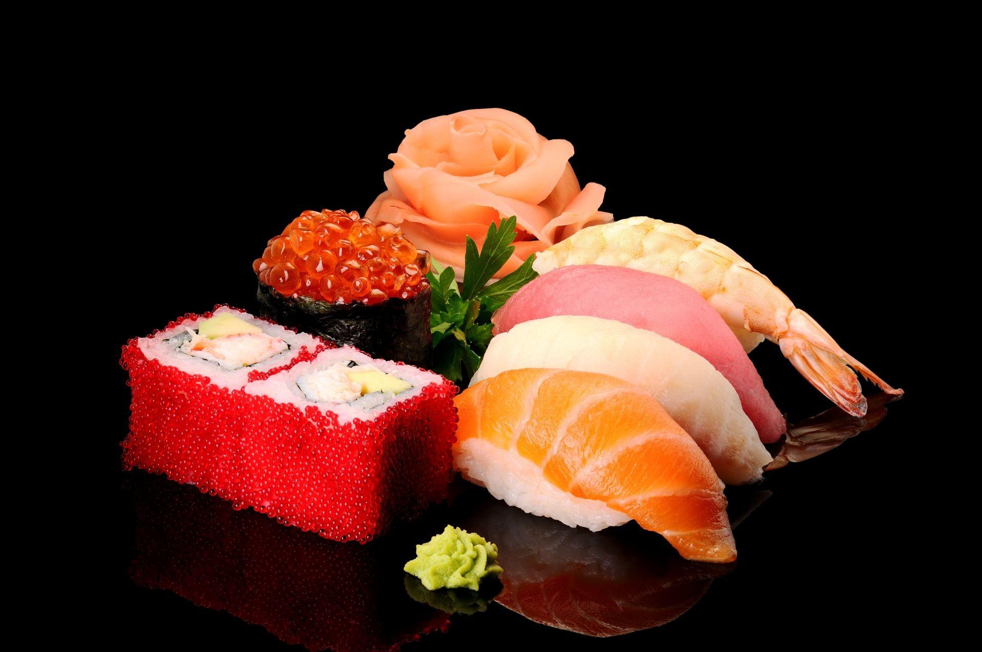 Суши вкусно - обои на телефон бесплатно.