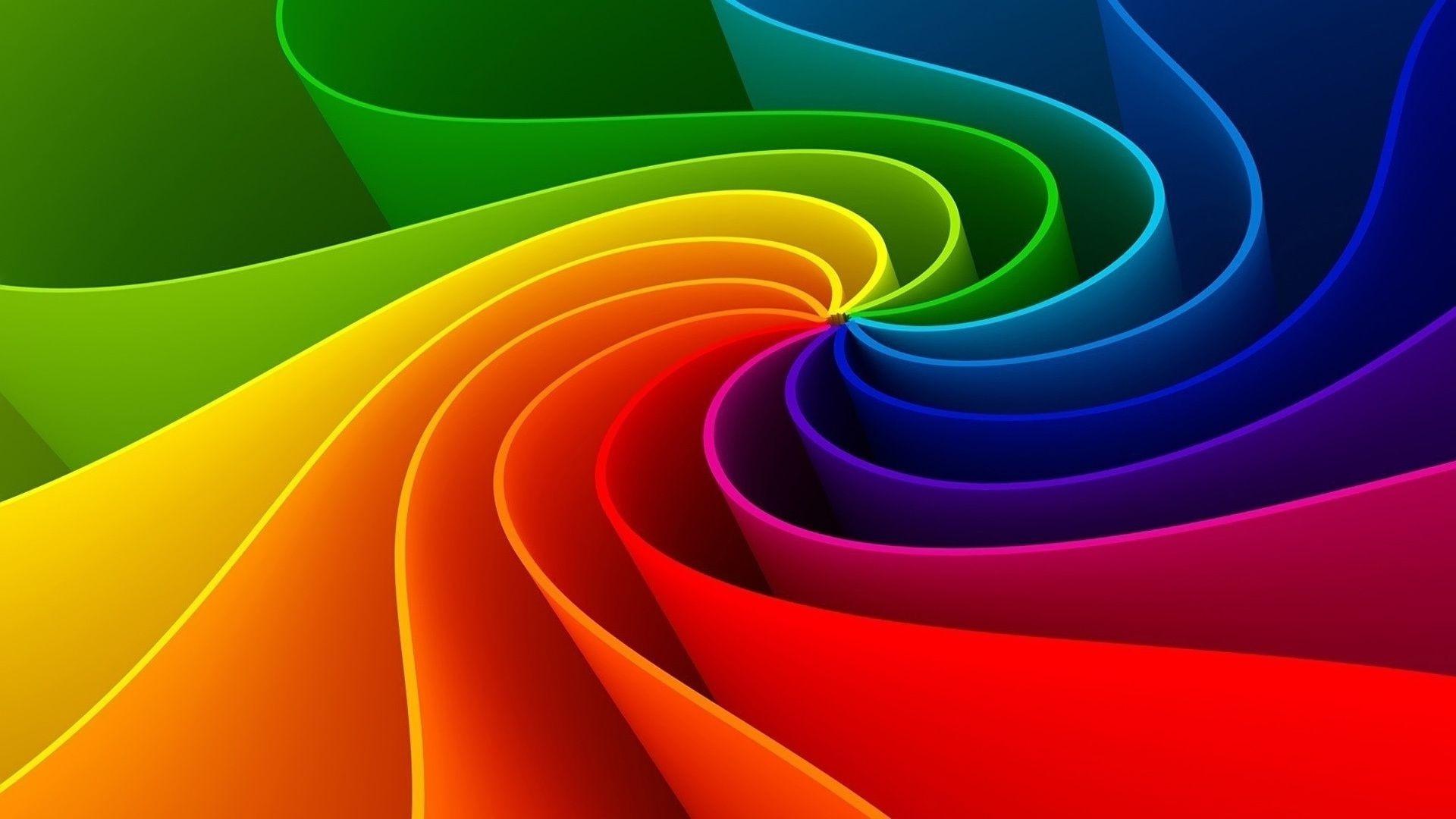 Абстракции, цвет, форма, спираль, рендеринг смотреть